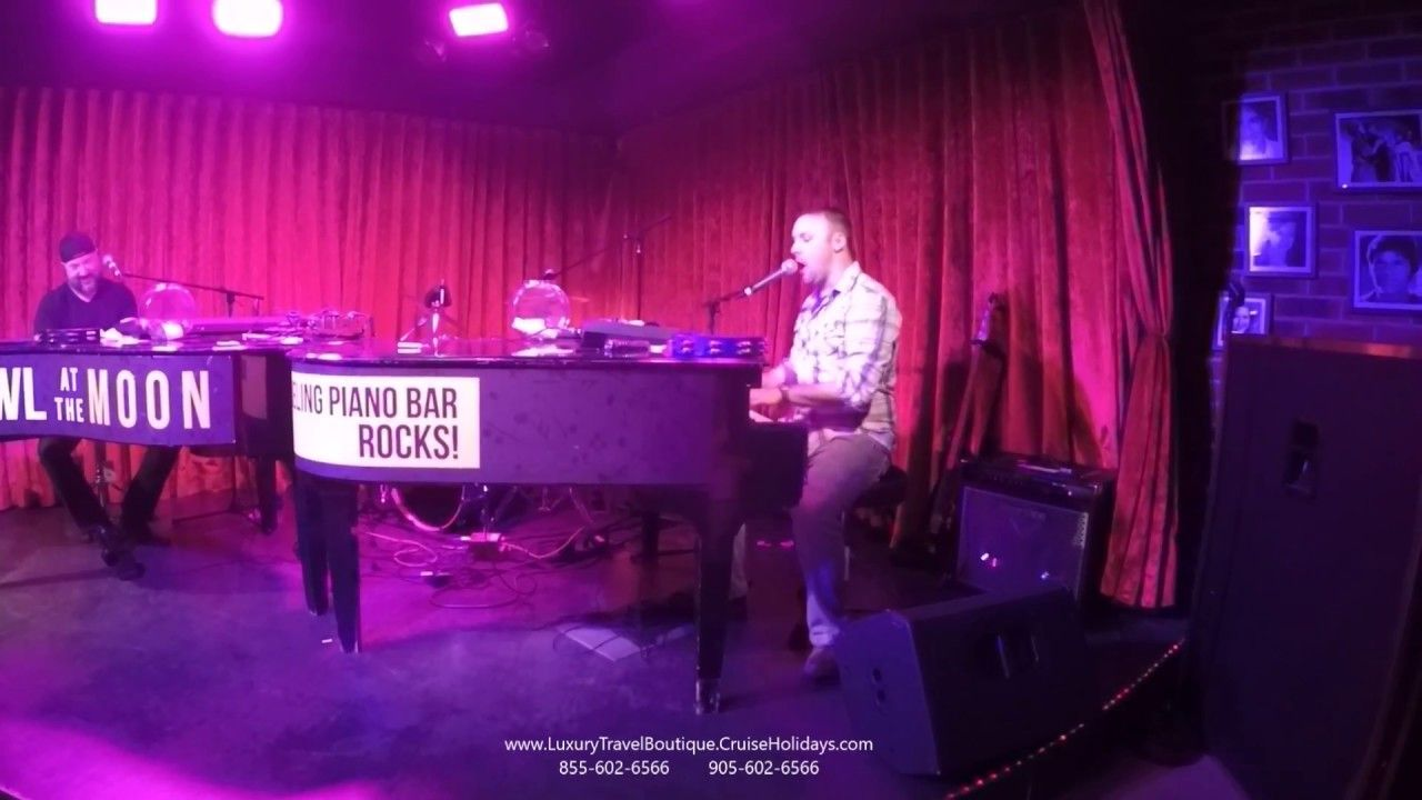 Dueling piano bar sweet caroline cover looking for a
