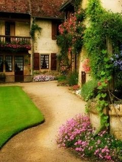 Download Free Garden House Mobile Wallpaper Contributed By