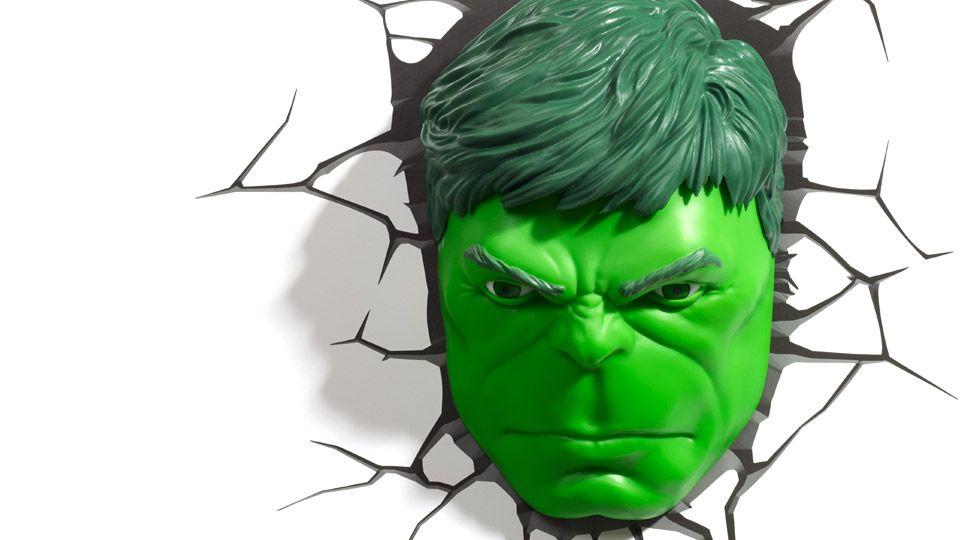 Hulk Face 3d Deco Light 3d Illusion Lamp Led Wall Lights