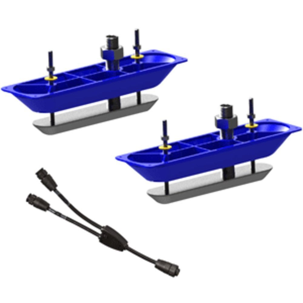 Navico StructureScan™HD Sonar Stainless Steel Thru-Hull Transducer (Pair) w/Y-Cable