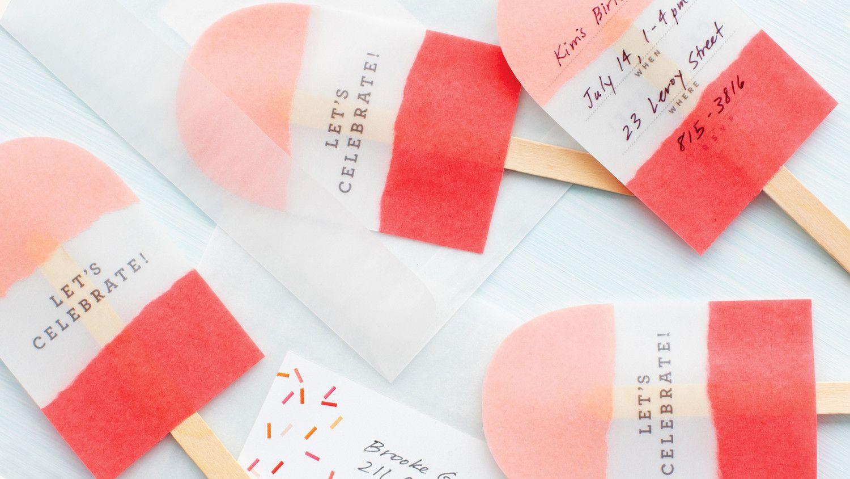 No-Melt Pop Invitations   Art and crafts   Pinterest   Vellum paper ...