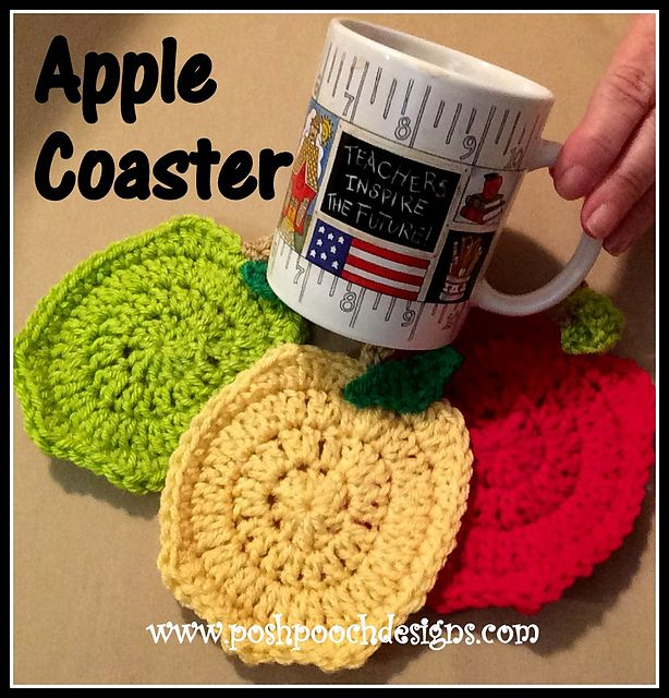 Ravelry: Apple Coaster pattern by Sara Sach (wonder if you could ...