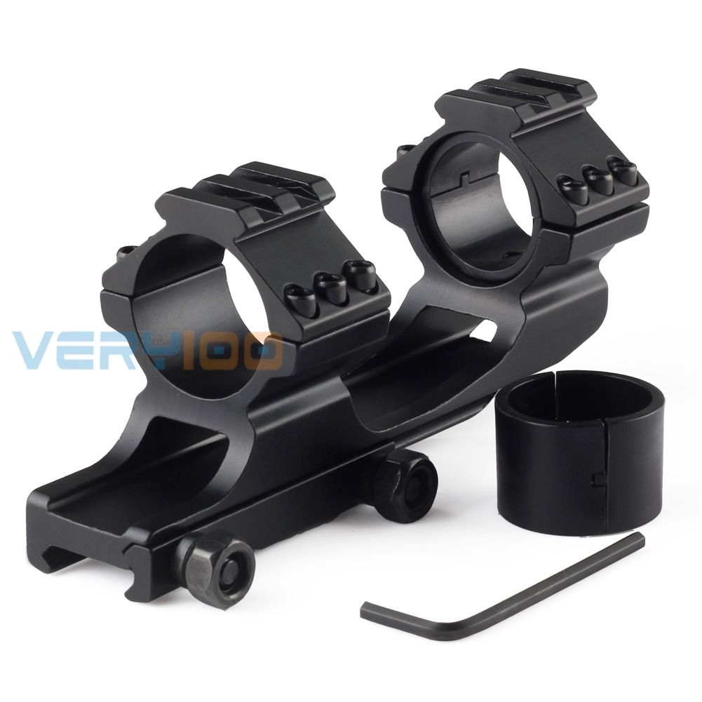 VERY100 30mm Offset Scope Mount with 1 Inserts Picatinny QD Cam Locks