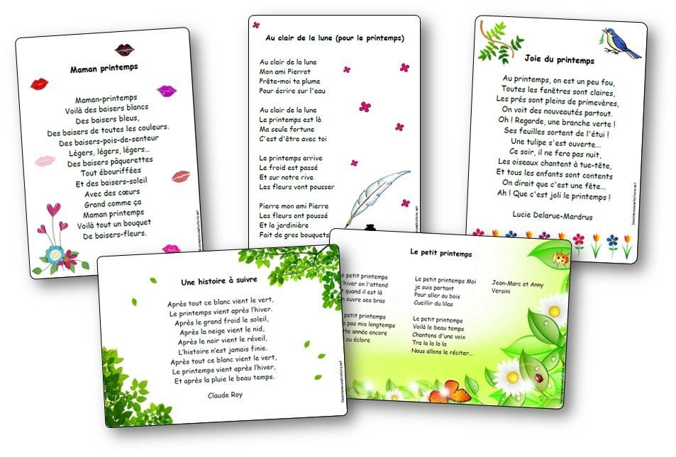 Chansons Comptines Poesies Printemps Maternelle Comptines