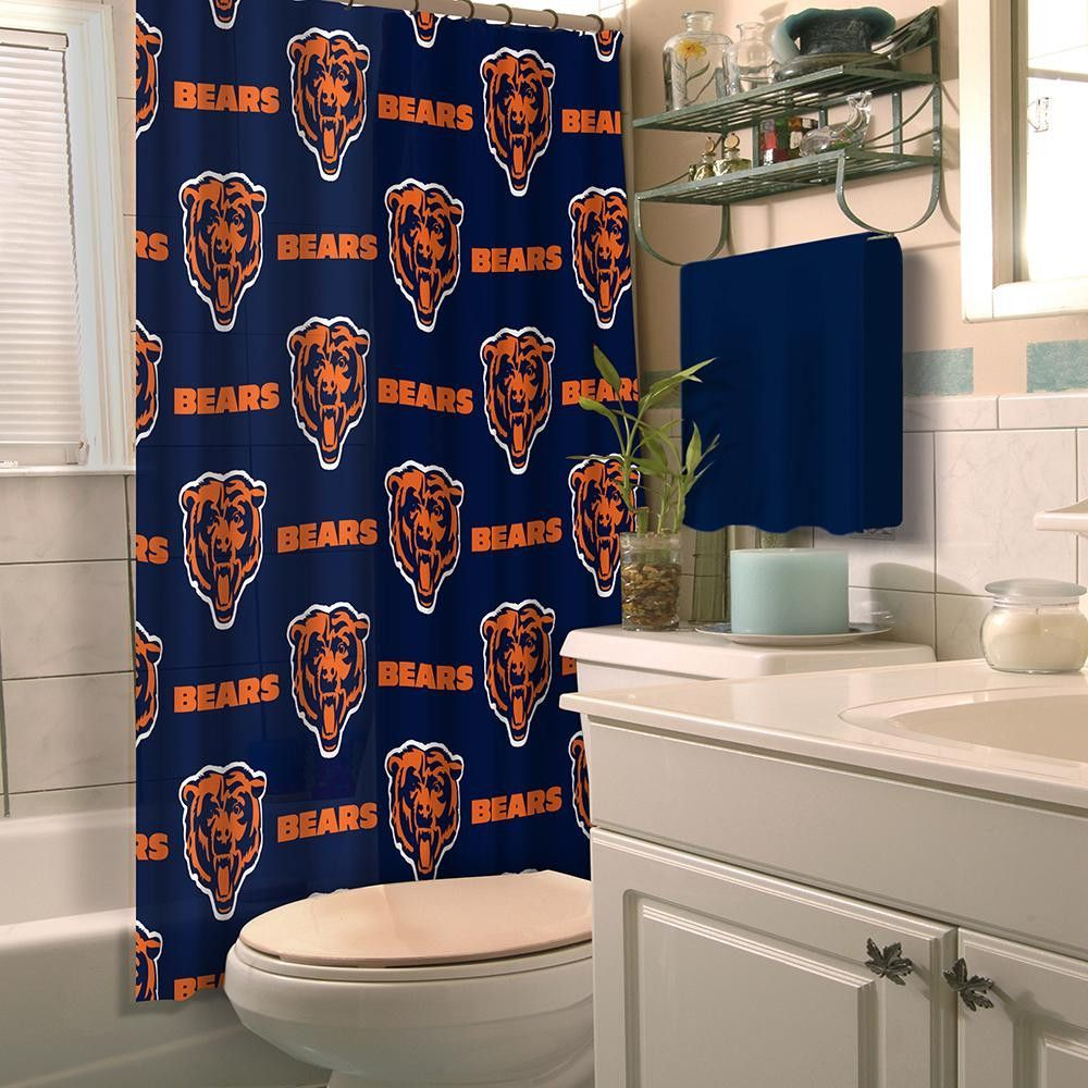 Chicago Bears Nfl Shower Curtain Products Nfl Chicago Bears Buffalo Bills Buffalo Bills Football
