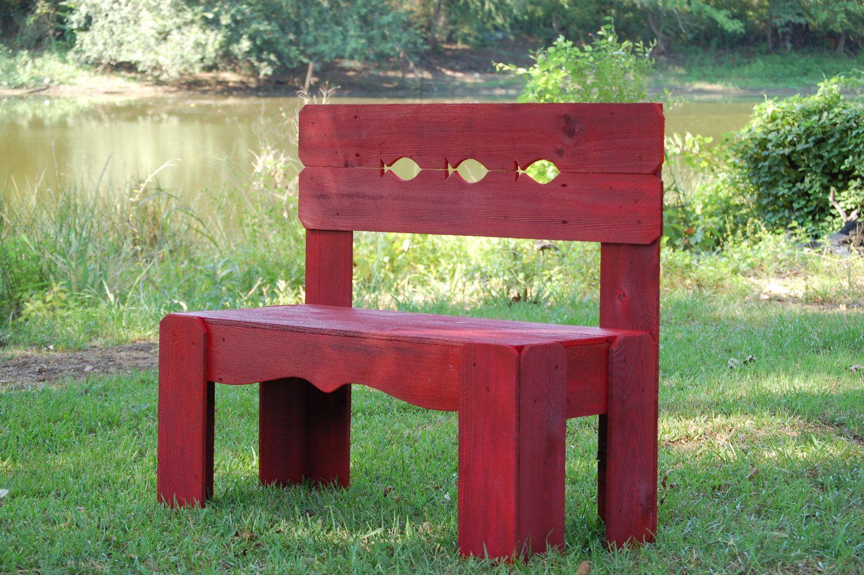 Wood Bench Lake House Furniture, Fish Bench Recycled Wood Furniture ...