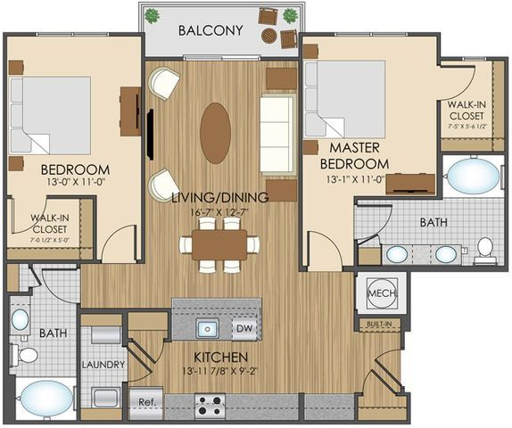 Hidden creek apartment homes apartments in gaithersburg for 4 bedroom luxury apartment floor plans