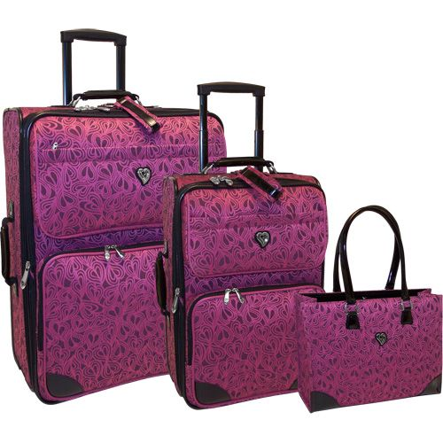 Diane von Furstenberg Luggage Hearts 3 Piece Luggage Set | Luggage ...