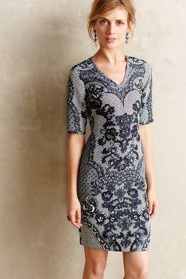 Yoana Baraschi Sketched Lace Dress #anthrofave #anthropologie