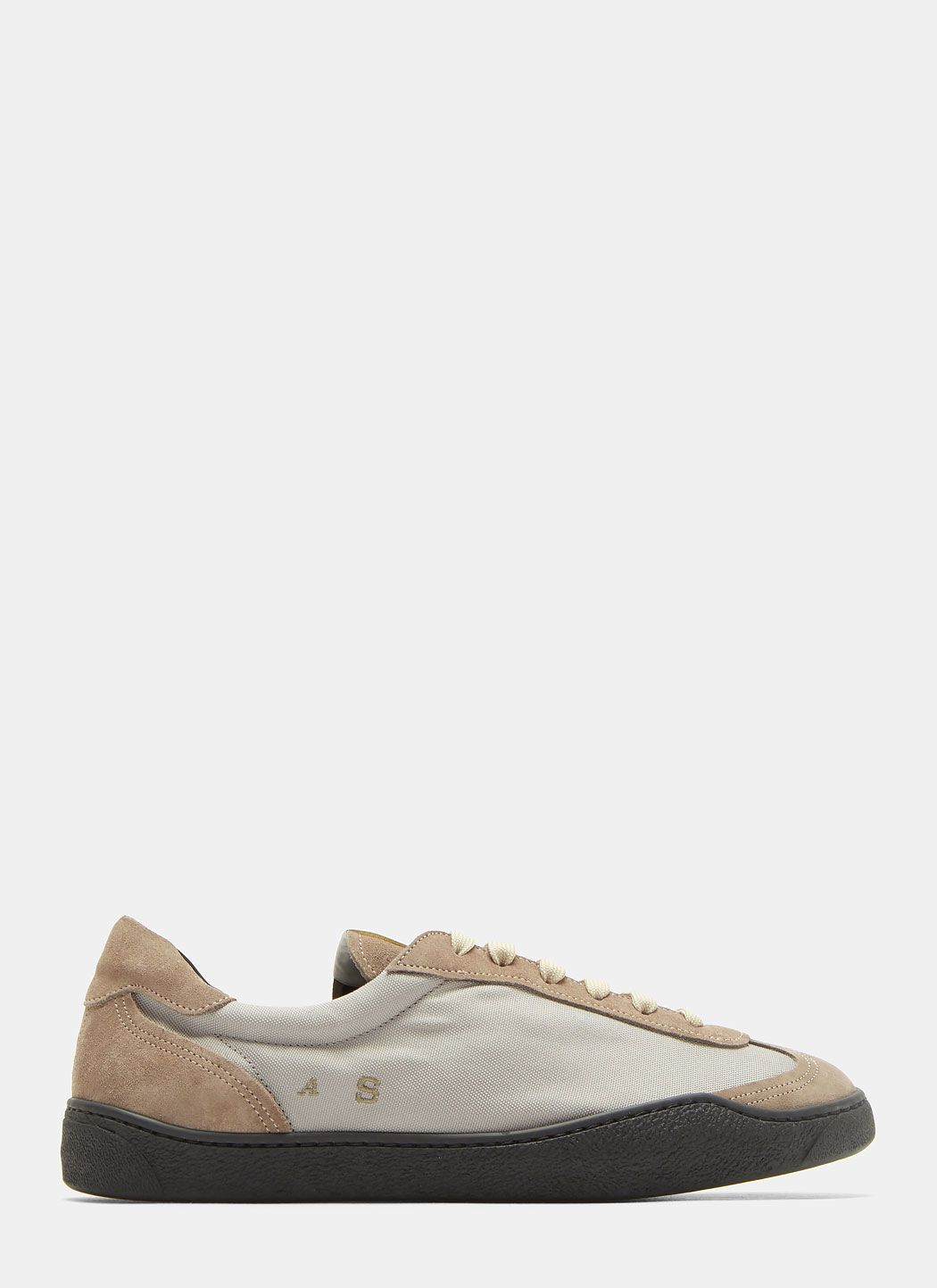 Acne Studios Lars Canvas And Suede Sneakers from china cheap price AG1ke