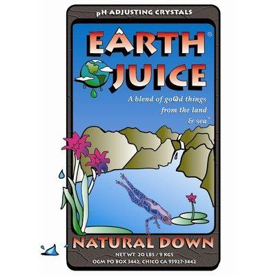 Natural Down Earth Juice pH Adjuster Size: 7.8 lbs by Hydro Organics. $58.98. HOH84023 Size: 7.8 lbs Features: -pH adjuster.-Eliminates hassles and worries of spilling, splashing and dealing with harsh liquid pH adjusters.-Use to adjust the pH of fertilizer and plant micronutrient foliar solutions. Options: -Available in 7.8 lbs, 1.6 lbs and 0.8 lbs sizes.