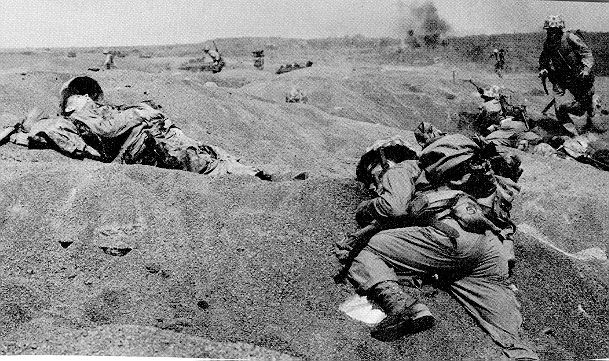 US soldier killed in combat on the beaches of Iwo Jima, Feb 1945 - Pin it by GUSTAVO BUESO-JACQUIER