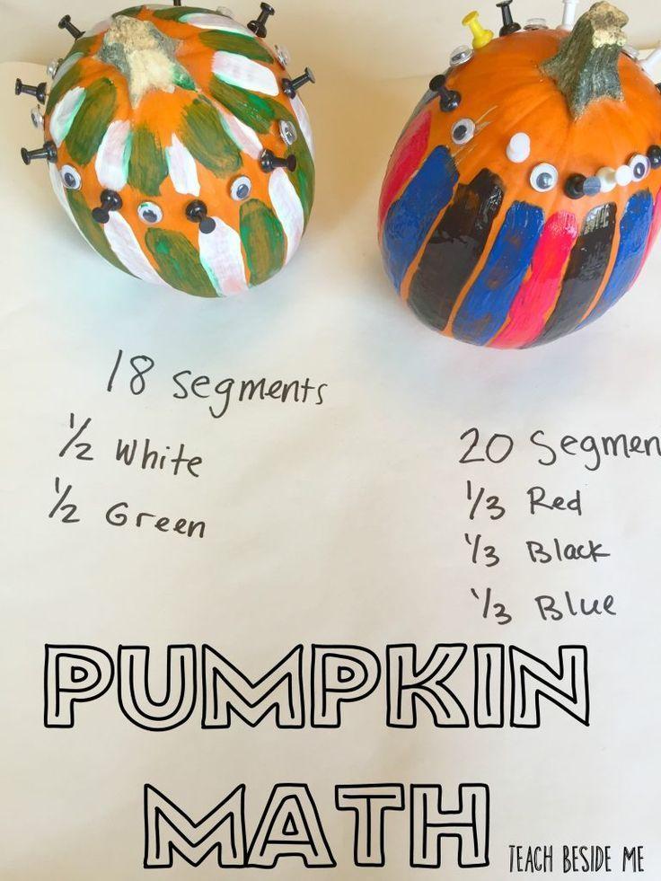 Pumpkin Math: How Many Segments | Halloween math, Maths and Math ...