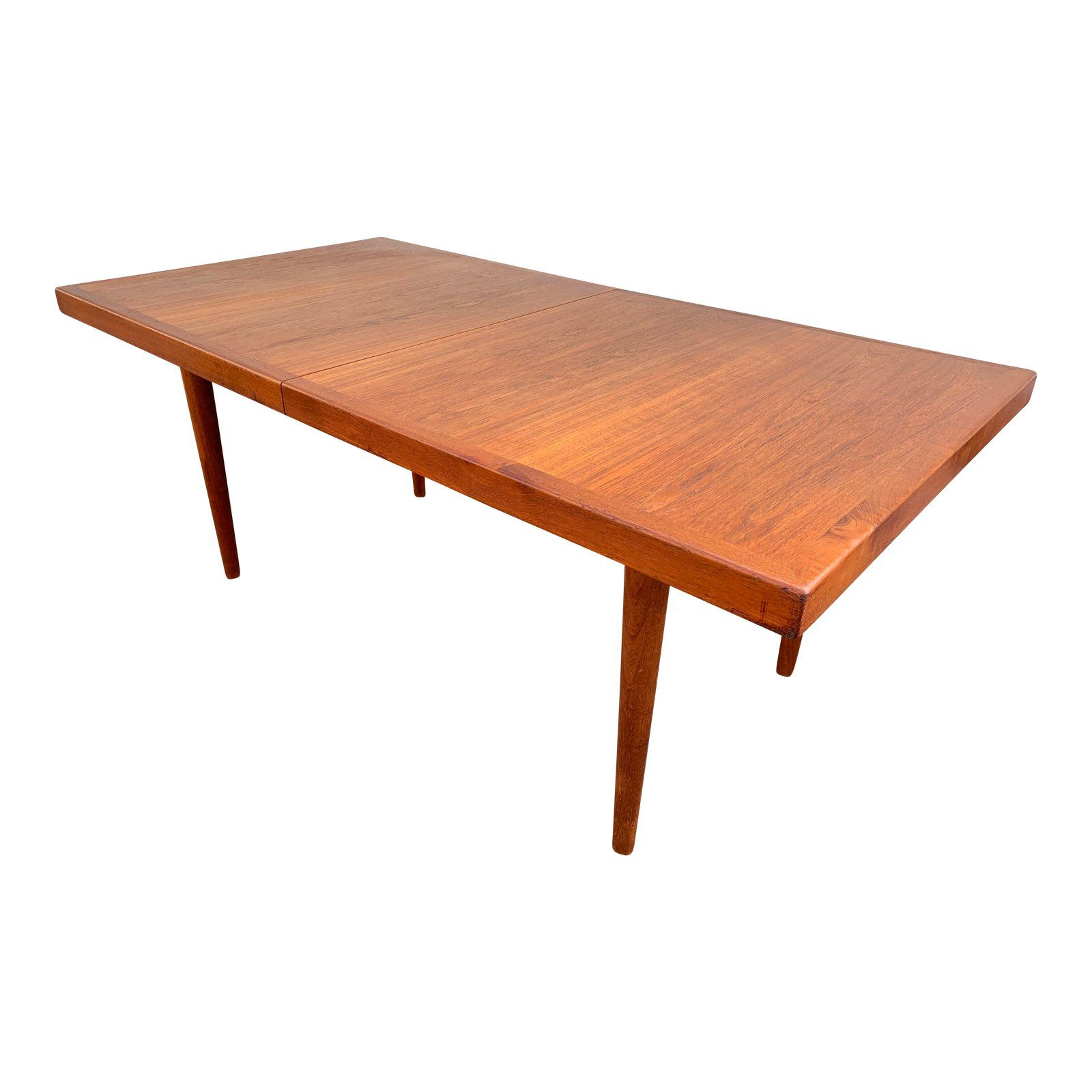 1960s Danish Modern Teak Dining Table For Sale With Images Dining Table Mid Century Modern Dining Room Table Mid Century Modern Dining Room