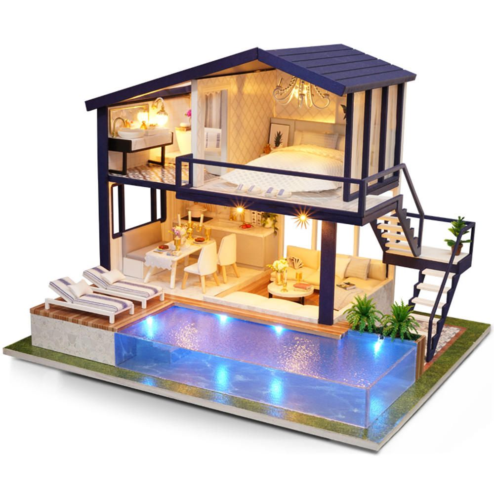 Cuteroom A-066 Time Apartment DIY Doll House With Furniture Light Gift House Toy #apartmentdiy