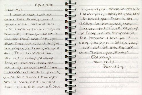 009 the journals of rachel joy scott Rachel scott, Think