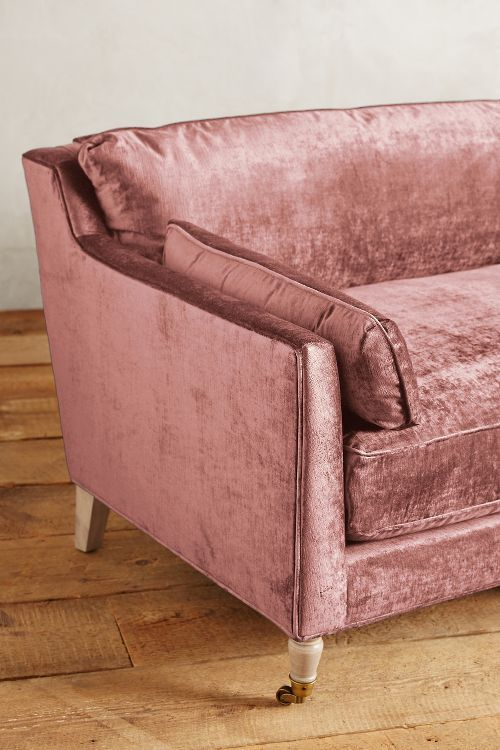Slub Velvet Leonelle Sofa | For the Home | Pinterest | Pink velvet ...