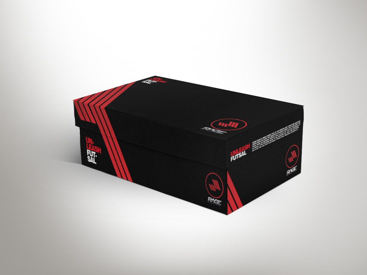 Packaging Design by aykutyoney for Indoor Soccer Shoe Box Design ...