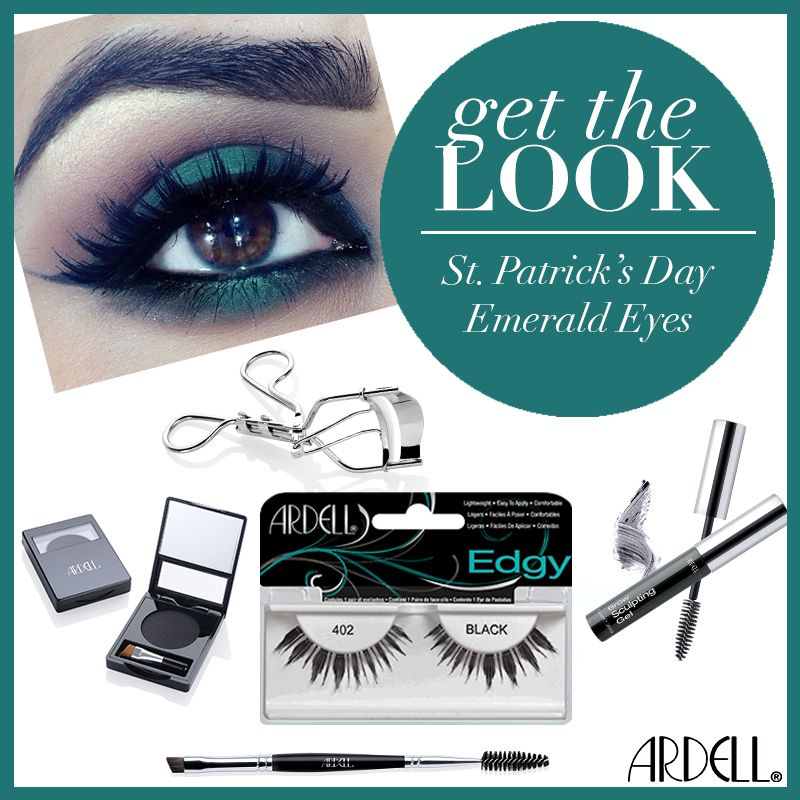 Make them green with envy this St. Patrick's Day with this gorgeous emerald eye look!   #ArdellGetTheLook