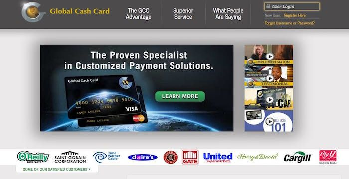 Global Cash Card Sign In Activation
