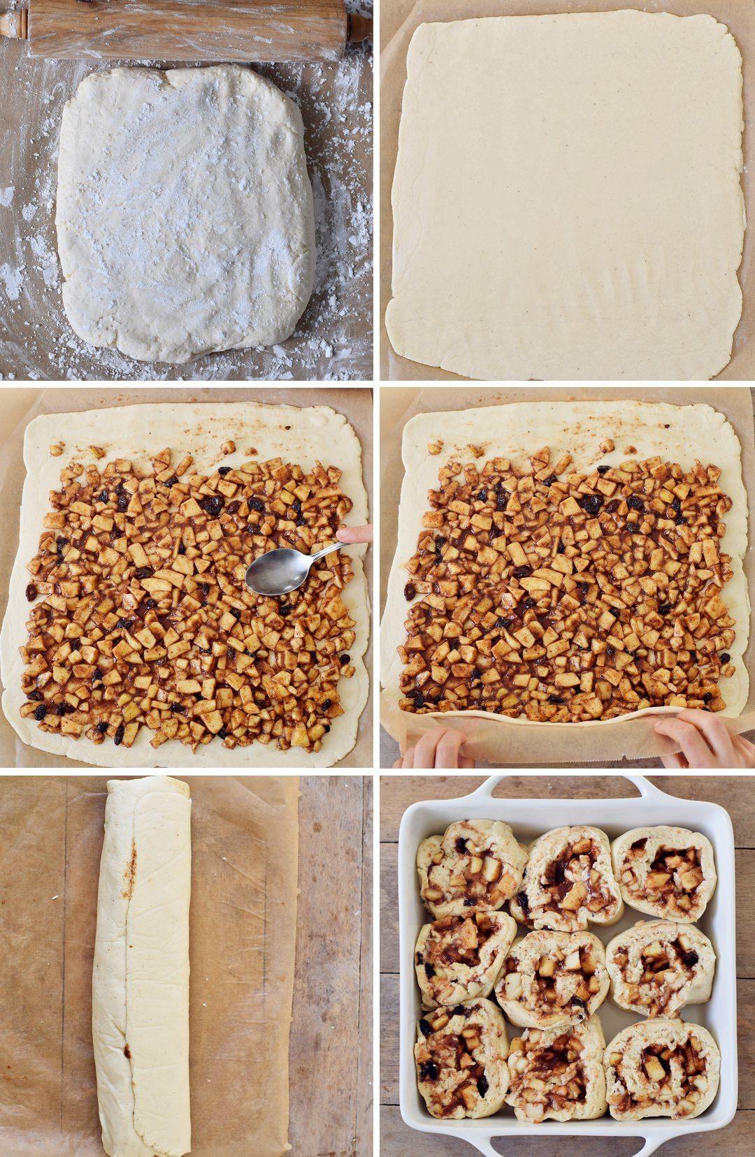 Apfel-Zimtschnecken Rezept | vegan, glutenfrei - Elavegan #cinnamonsugarcookies