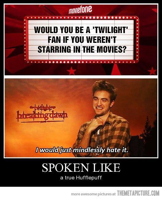 Funny funny Robert Pattinson Twilight interview | Harry ...