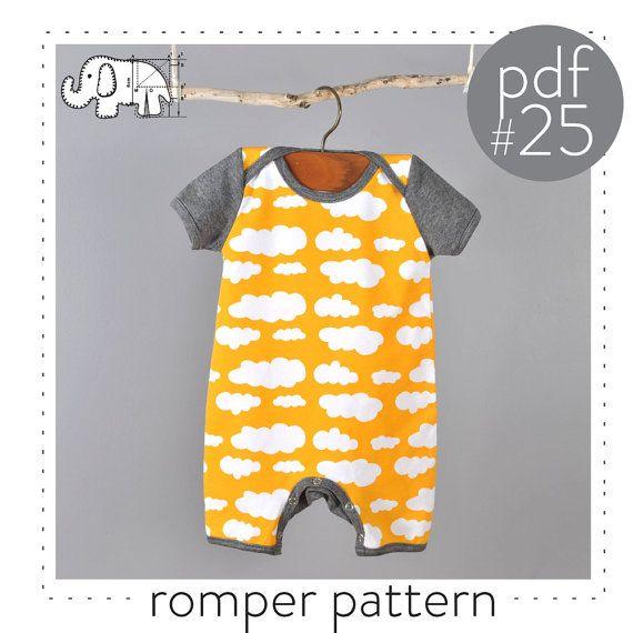 Baby Strampler Pdf Muster, Foto-Tutorial, Größe 0-3 t-Muster 25 ...