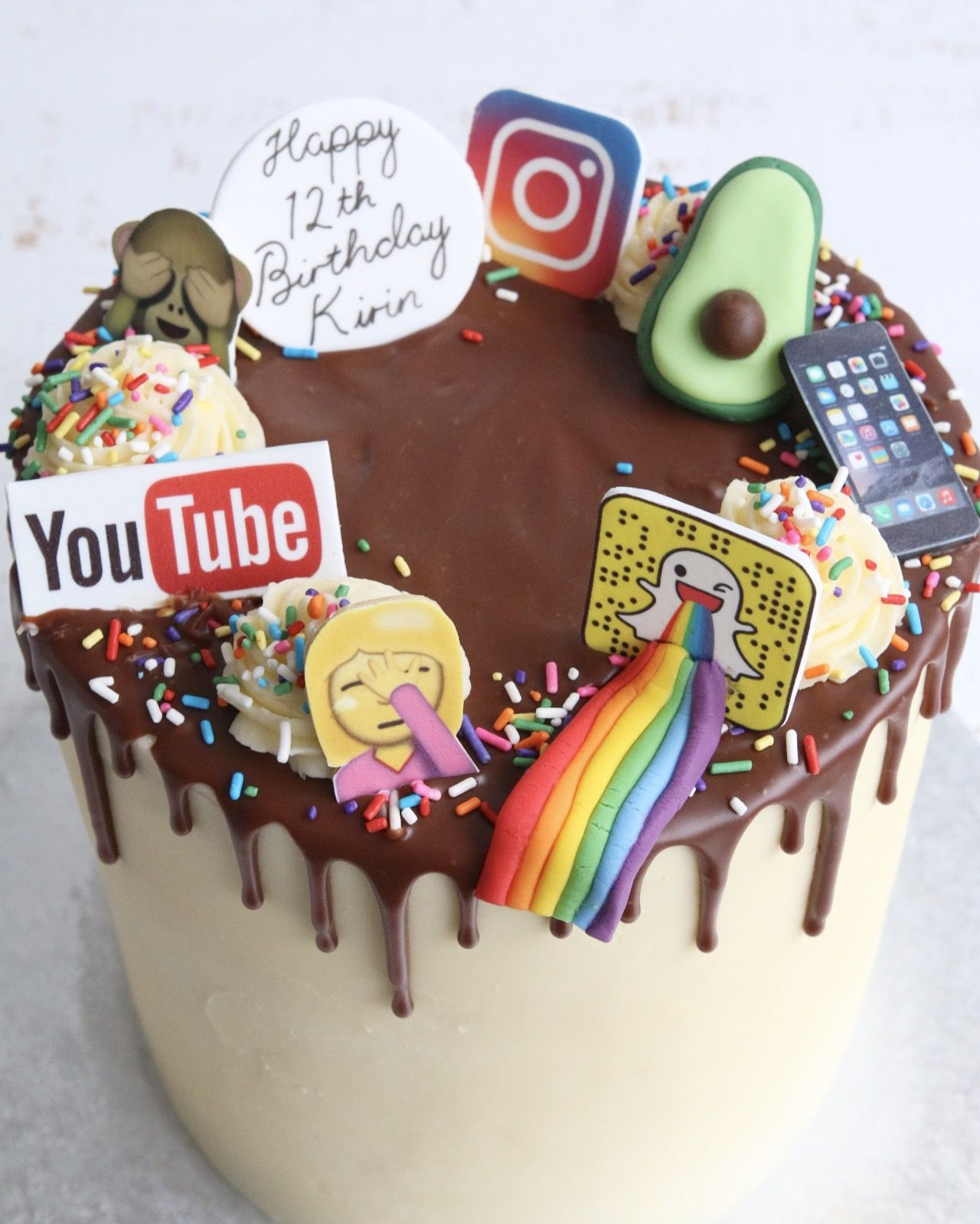 Buttercream Drip Cakes In 2020 14th Birthday Cakes Anime Cake