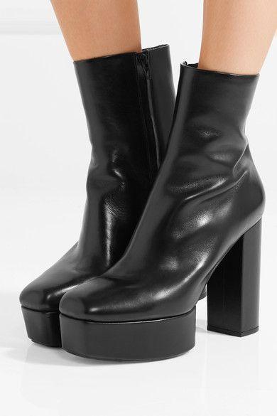 fda28753db9 Alexander Wang - Cora Leather Platform Ankle Boots - Black ...