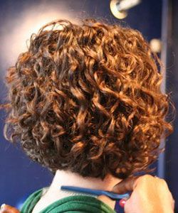 Hair Coloring Curly Stacked