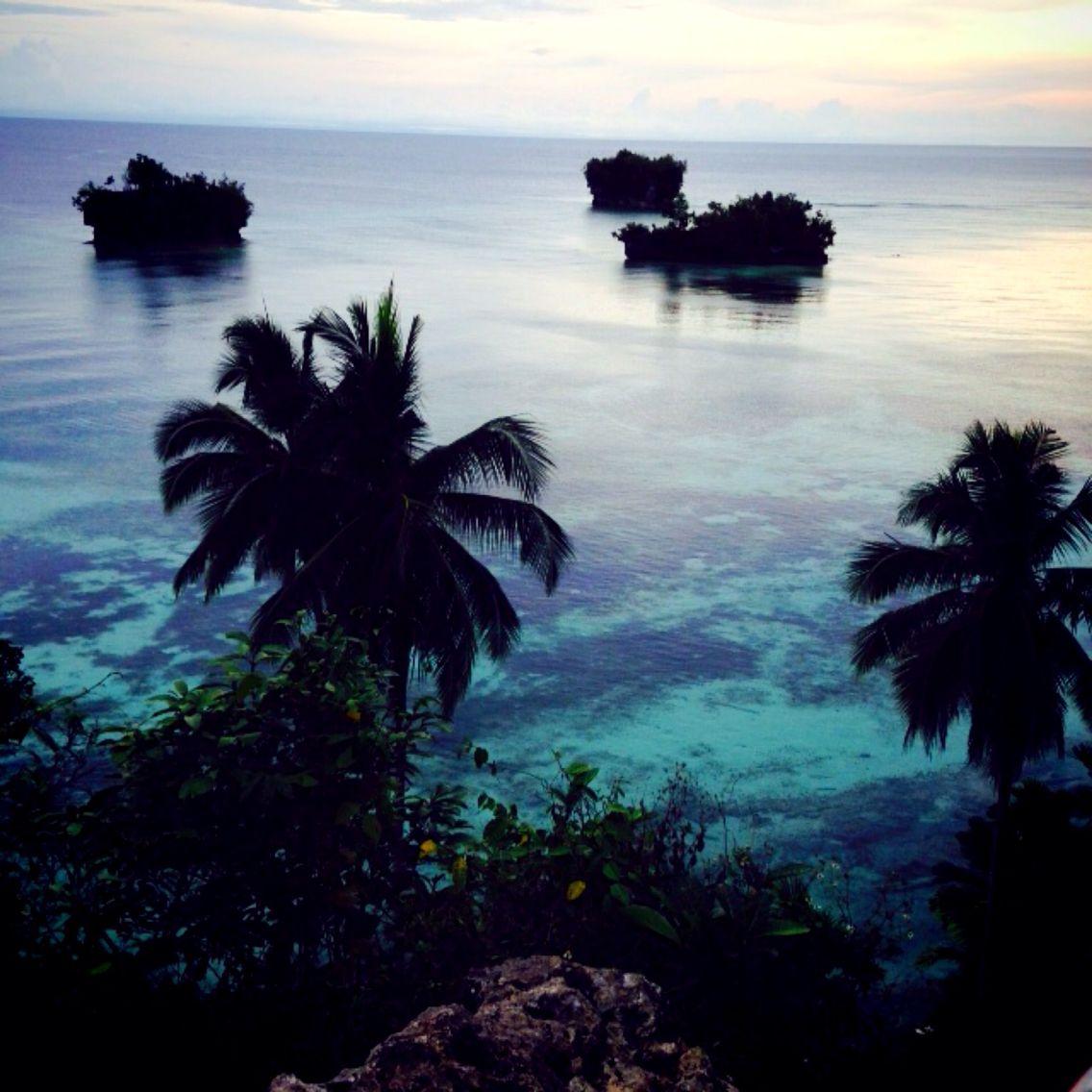 West from the island Adoki village. Biak,papua