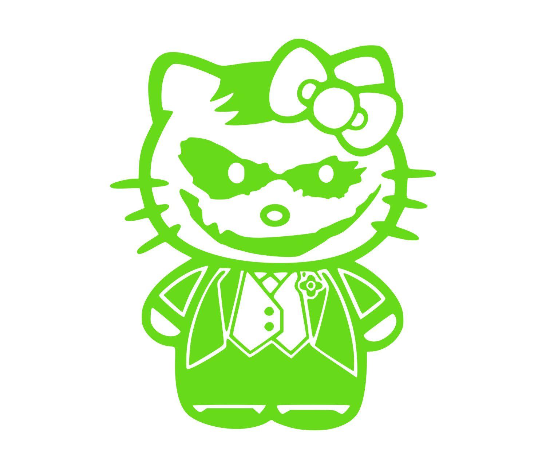 Joker Kitty Hello Kitty Vinyl DieCut Decals Order Custom - Hello kitty custom vinyl stickers