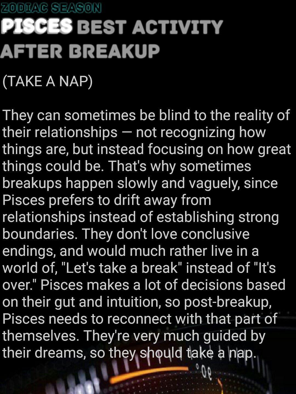 pisces break up