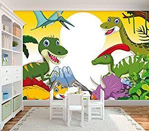 Unique Vlies Fototapete Dinos Dinosaurier Tapete f r das Kinderzimmer