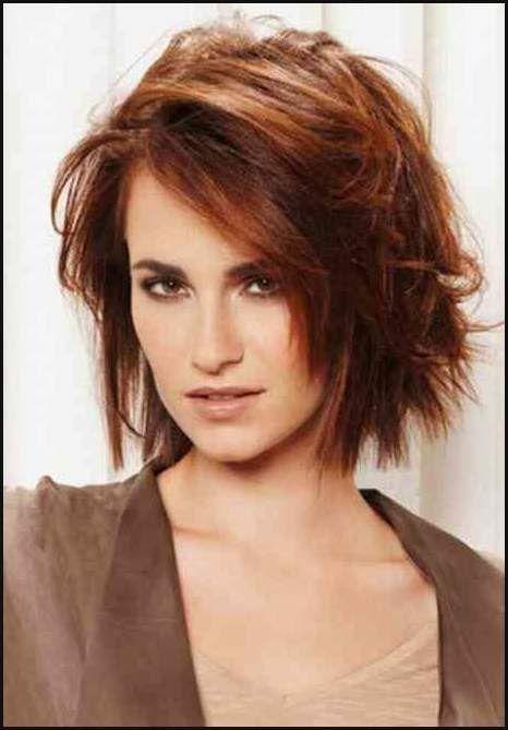 Frisuren Fransig Mittellang Haare Farbe Schnitt Pinterest