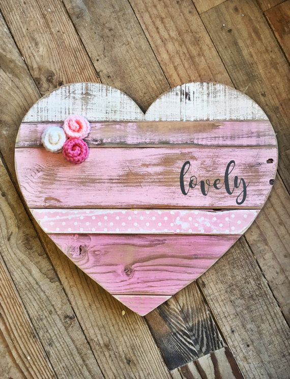 Large Wood Heart Wood Heart Wooden Heart By Justmekimberly On Etsy Wood Hearts Wooden Hearts Pallet Heart