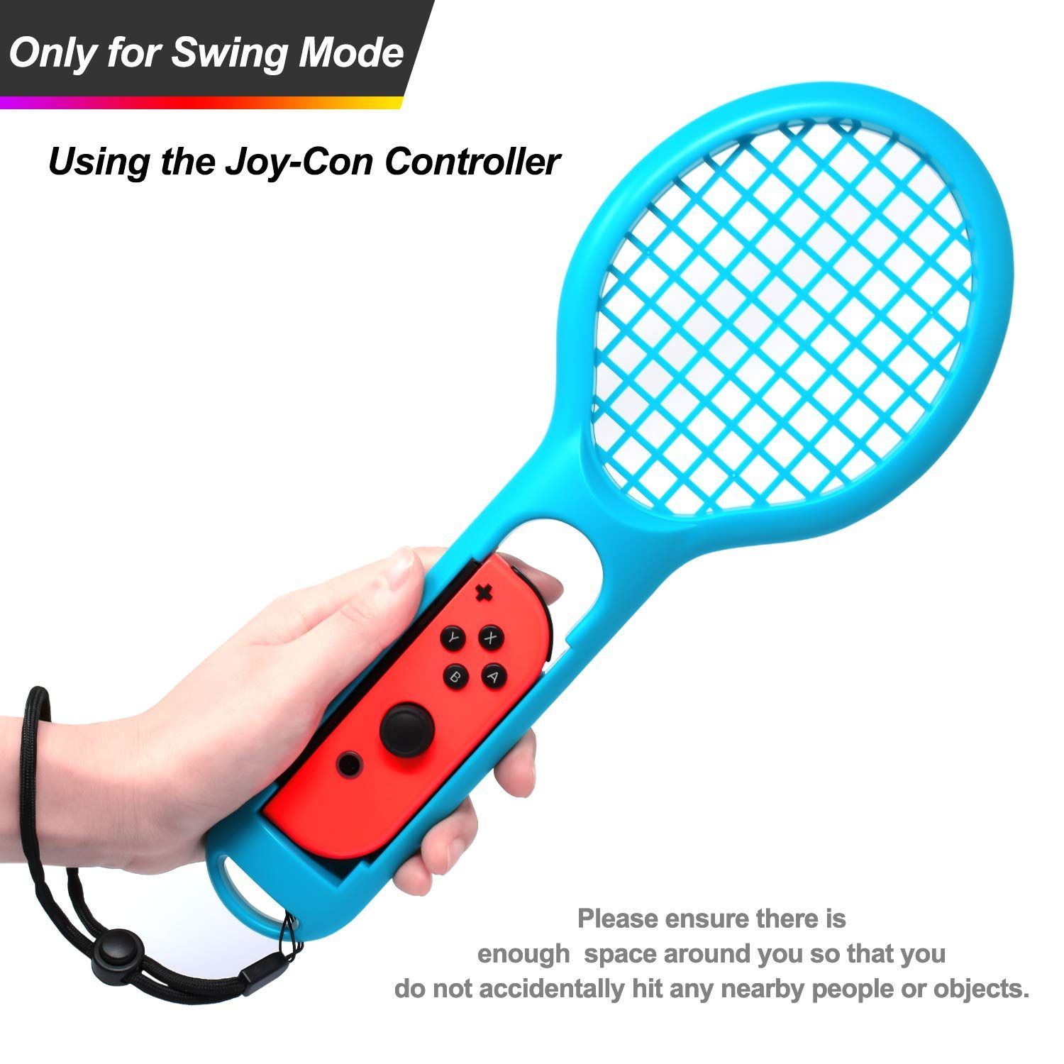 Tennis Racket For Nintendo Switch Joy Con Controller Accessories For Nintendo Switch Game Mario Tennis Aces Blue And Red Only Us Tennis Racket Rackets Tennis