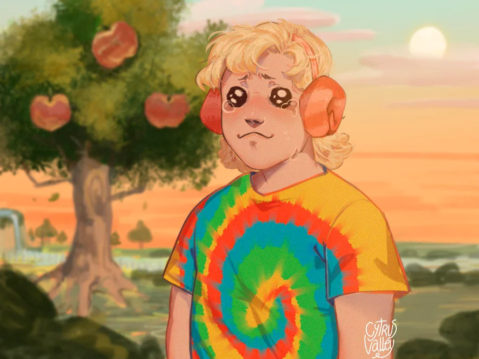 I drew my second favorite villager as a human, I hope you ...