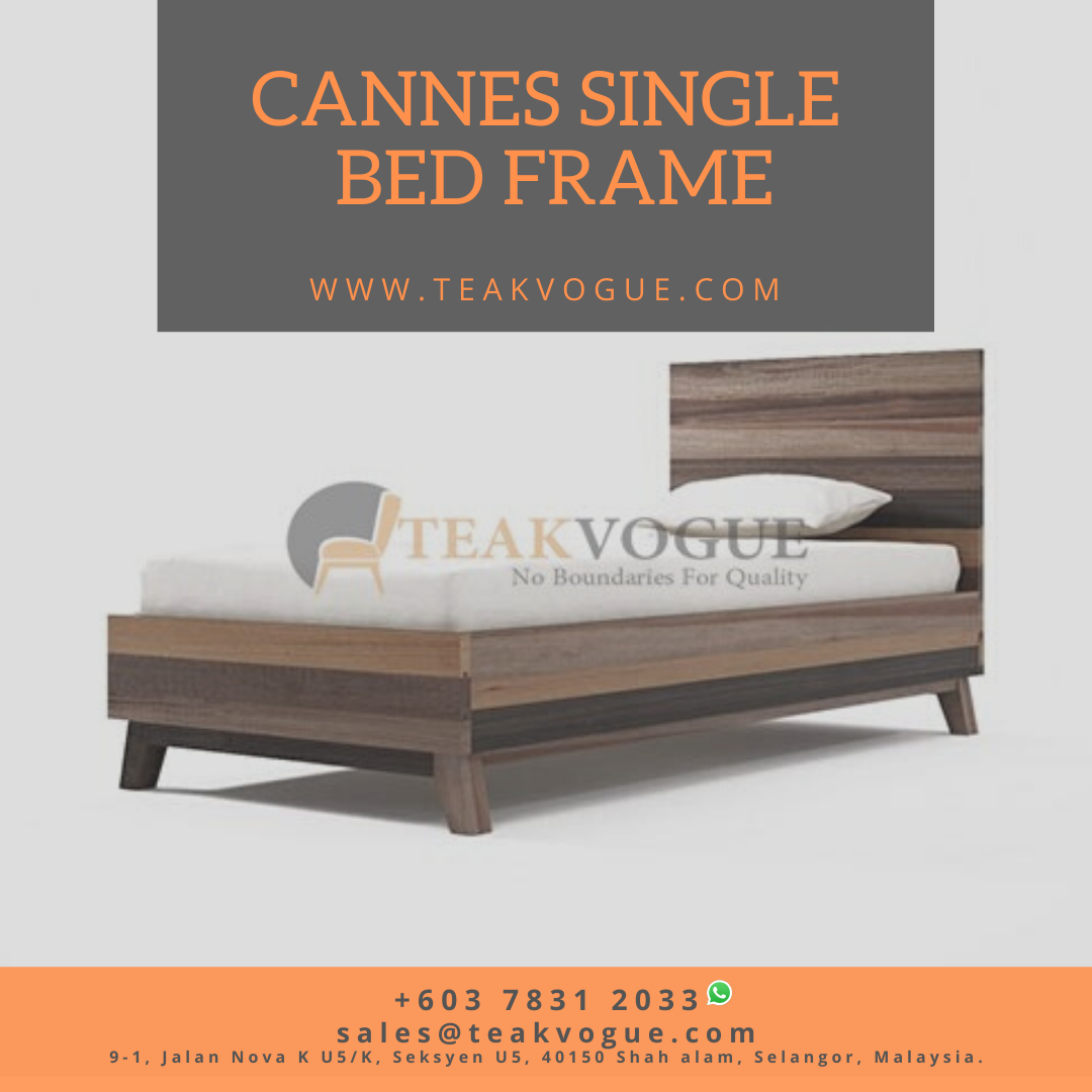 Cannes Bed Single Size Teak Wood Bed Frames Malaysia In 2020