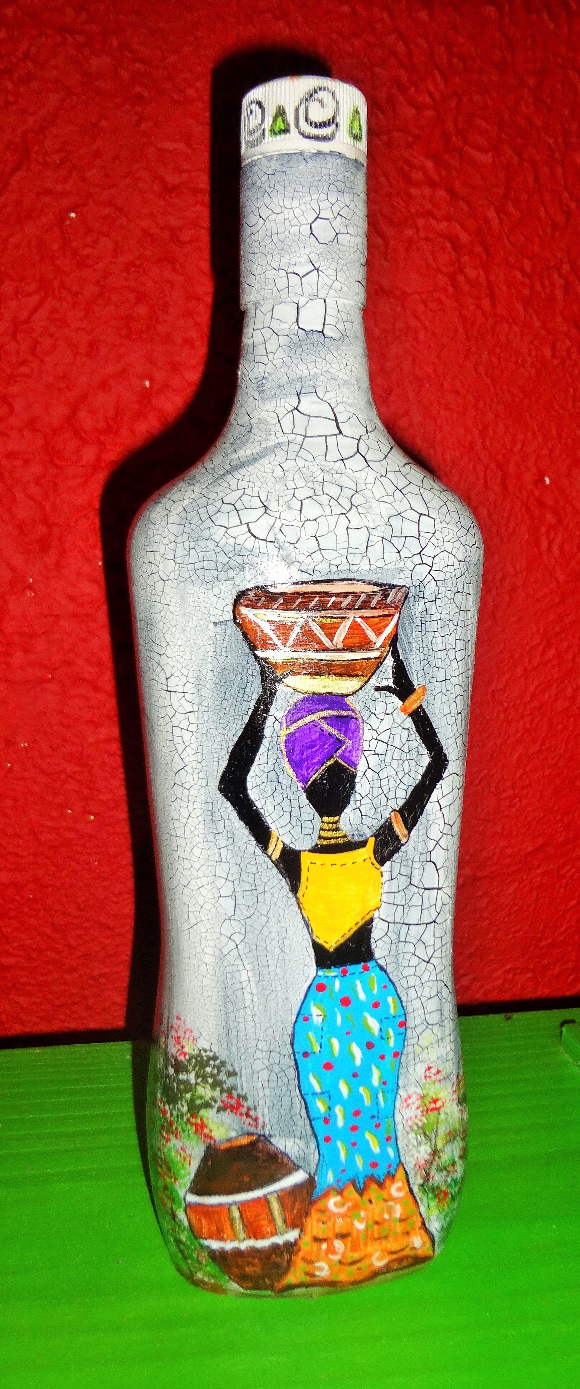 Pin By Leide On Pintar Sobre Tela Bottle Art Bottle Crafts Wine Bottle Crafts