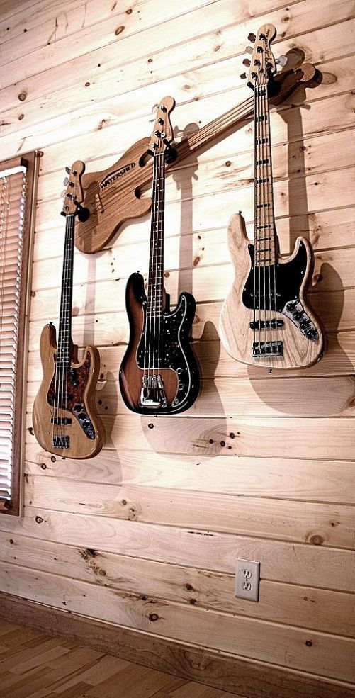 Hang multiple guitars with style! @Patty Kelley  So perfect for you!