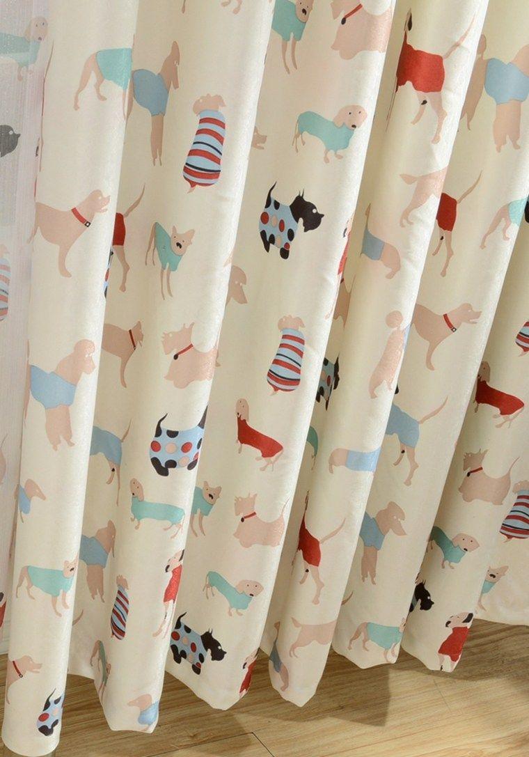 Vorhang Designs für Kinder bunte und lebendige Modelle