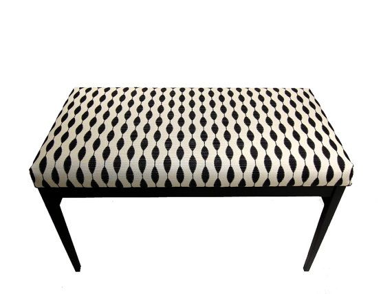 Upholstered Bench - Modern Black and White Indoor Bench | For the ...