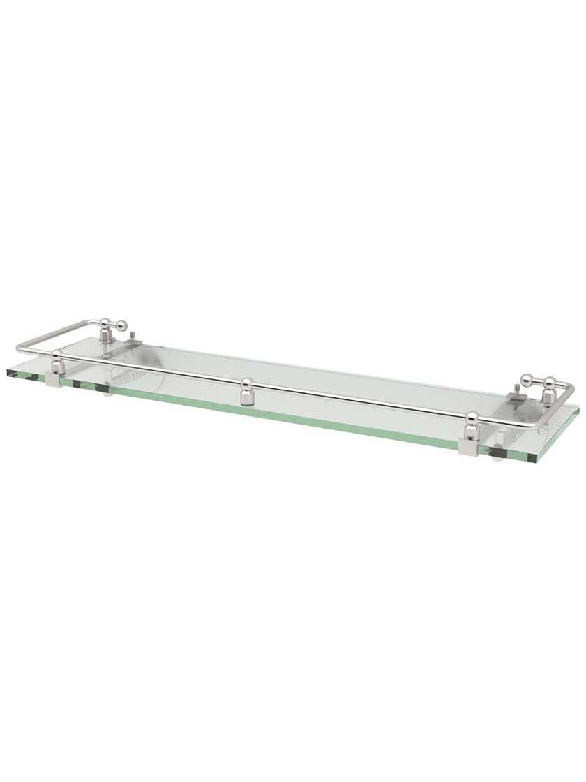 Premier Glass Bathroom Shelf With Railing Glass Bathroom Shelves