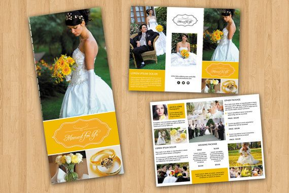 Wedding Photography Brochure Template Trifold by TemplateStock - wedding brochure template