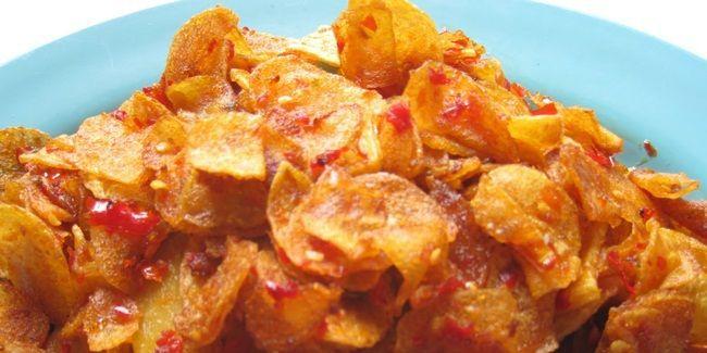 Vemale Com Resep Keripik Kentang Pedas Manis Sedap Keripik Kentang Resep Masakan Resep