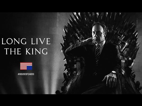 House of Cards Taunts Game of Thrones on Twitter | Twitter, Game ...