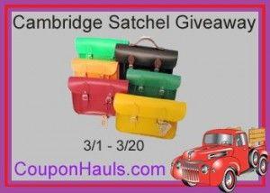 Win a Cambridge Satchel (giveaway runs through March 20, 2013)