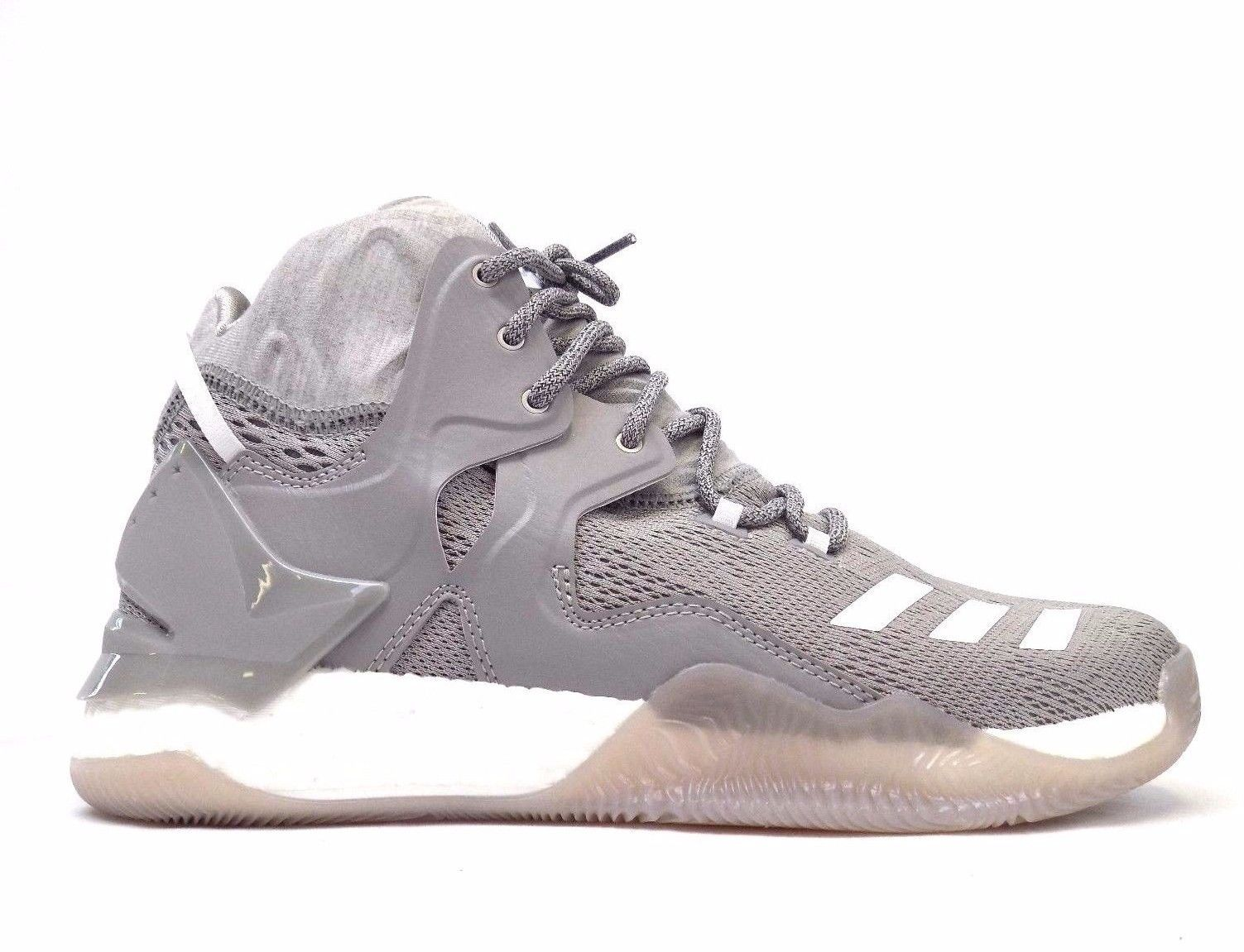 727b67007f47 NEW ADIDAS DERRICK D ROSE 7 B54134 GREY WHITE BASKETBALL SHOES BOOST  SNEAKERS 11