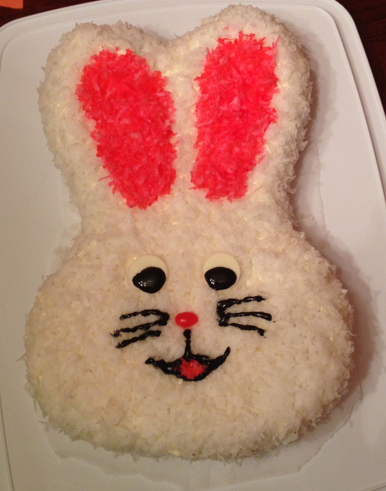 Bunny cake using Wilton bunny pan Easter Pinterest Cake